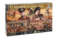 El Alamein The Railway Station Battle Diorama Set 1/72 Italeri