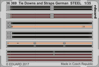 German Tie Downs & Straps Steel (Painted) 1/35 Eduard