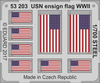 WWII USN Ensign Flag Steel (Painted) 1/700 Eduard