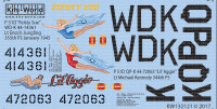 P-51D Fiesty Sue, Lil Aggie for RVL 1/32 Warbird Decals
