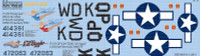 P-51D Fiesty Sue, Lil Aggie for RVL 1/48 Warbird Decals