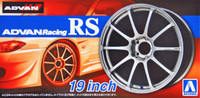 "Advan Racing RS 19"" Tire & Wheel Set (4) 1/24 Aoshima"