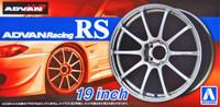 "Advan Racing RS 19"" Tire & Wheel Set (4) 1/24 Aoshima"