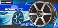 "AVS Model T6 19"" Tire & Wheel Set (4) 1/24 Aoshima"