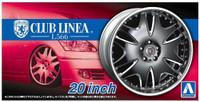 "Club Linea L566 20"" Tire & Wheel Set (4) 1/24 Aoshima"