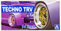 "Techno TRV 14"" Tire & Wheel Set (4) 1/24 Aoshima"