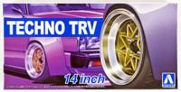 "Techno TRV 14"" Tire & Wheel Set (4) 1/24 Aoshima"