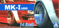 "Mk I 4H 14"" Tire & Wheel Set (4) 1/24 Aoshima"