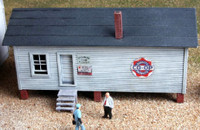 Elevated Warehouse HO Scale American Model Builders