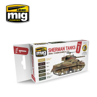 WWII Commonwealth Sherman Tanks Acrylic Paint Set (6 Colors) AMMO of Mig Jimenez