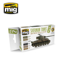 WWII European Theater of Operations Sherman Tanks Acrylic Paint Set (6 colors) AMMO of Mig Jimenez