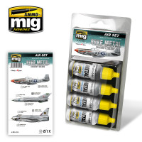 Bare Metal Aircraft Colors Acrylic Paint Set (4 colors) AMMO of Mig Jimenez