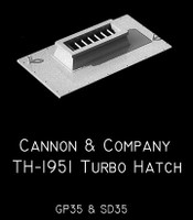 Turbo Hatch for GP/SD35 (2) HO Scale Cannon & Company