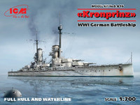 WWI German Battleship Kronprinz 1/700 ICM Models