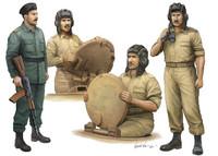 Iraqi Tank Crew Figure Set (4) 1/35 Trumpeter