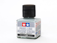 Light Gray Panel Line Accent Color (40ml Bottle) Tamiya