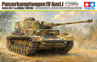 German PzKpfw IV Ausf J SdKfz 161/2 Tank w/Single Motor 1/16 Tamiya