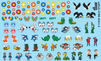 Silly Stuff - Daisies, Animals, Eyes, etc. 1/24-1/25 Gofer Racing Decals