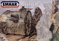 WWI British Artillery (3) w/18-Pdr Gun 1/35 Emhar