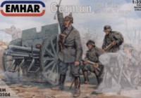 WWI German Artillery (3) w/96 n/A 76mm Gun 1/35 Emhar
