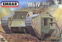 WWI Male Mk IV Heavy Battle Tank 1/72 Emhar
