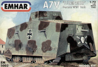 WWI A7V Sturmpanzer Tank 1/72 Emhar