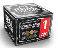 Real Colors: German Army Pre-WWII Acrylic Lacquer Paint Set (4) 10ml Bottles AK Interactive