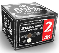 Real Colors: German Army Early WWII Acrylic Lacquer Paint Set (3) 10ml Bottles AK Interactive
