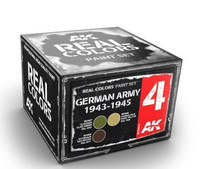 Real Colors: German Army 1943-1945 Acrylic Lacquer Paint Set (3) 10ml Bottles AK Interactive