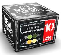 Real Colors: British Caunter Scheme Acrylic Lacquer Paint Set (4) 10ml Bottles AK Interactive