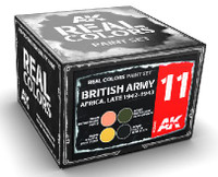 Real Colors: British Army Africa Late 1942-1943 Acrylic Lacquer Paint Set (4) 10ml Bottles AK Interactive