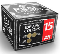 Real Colors: IDF AFV Acrylic Lacquer Paint Set (3) 10ml Bottles AK Interactive