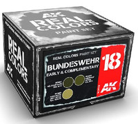 Real Colors: Bundeswehr Early & Complementary Acrylic Lacquer Paint Set (3) 10ml Bottles AK Interactive
