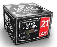 Real Colors: NATO Colors Acrylic Lacquer Paint Set (3) 10ml Bottles AK Interactive
