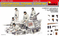 WWII German Tank Crew Winter Uniforms (5) w/Weapons Special Edition 1/35 Miniart