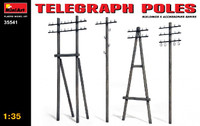 Telephone Poles (Various Types) 1/35 Miniart