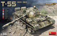 Soviet T-55 Mod. 1963 Tank with Full Interior 1/35 Miniart