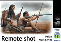 Remote Shot Indian Warriors Kneeling w/Rifles (2) 1/35 Masterbox