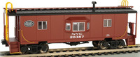 Bay Window Caboose w/Roof Walk New York Central HO Scale Bachmann Trains