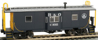 Bay Window Caboose w/Roof Walk Baltimore & Ohio HO Scale Bachmann Trains