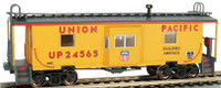 Bay Window Caboose w/Roof Walk Union Pacific HO Scale Bachmann Trains