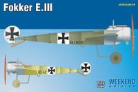 Fokker E III Aircraft (Wkd Edition Plastic Kit) 1/72 Eduard