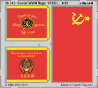WWII Soviet Flags Steel (Painted) 1/35 Eduard