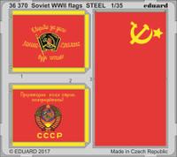 WWII Soviet Flags Steel (Painted) 1/35 Eduard