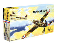 Morane-Saulnier M.S.406.C1 WWII French Fighter 1/72 Heller