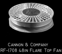 "Thinwall Radiator Fan 48"" Flare Top for GP20 (2) HO Scale Cannon & Company"