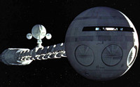 """2001 Space Odyssey: Discovery XD-1 Nuclear Powered Deep Space Research Spacecraft (41"""" Long) 1/144 Moebius"""