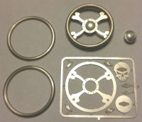 Toxic Skull Billet Steering Wheel Kit 1/24-1/25 Detail Master