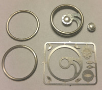 Fury Skull Billet Steering Wheel Kit 1/24-1/25 Detail Master