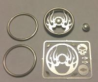 Hell Fire Skull Billet Steering Wheel Kit 1/24-1/25 Detail Master